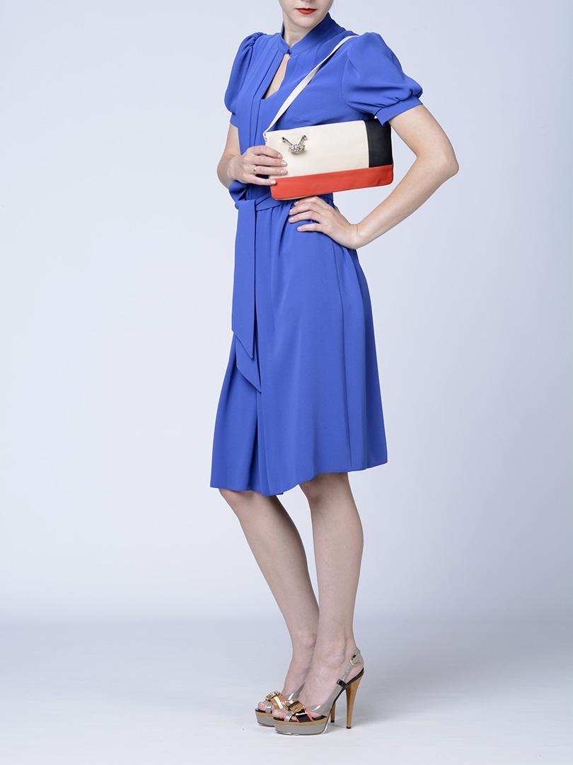 Клатч трехцветный кожаный с перстнем RENATO ANGI -29872