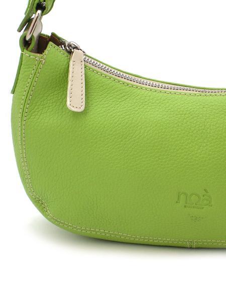 Маленькая кожаная сумочка цвета зеленого яблока итальянской марки NOA -30452