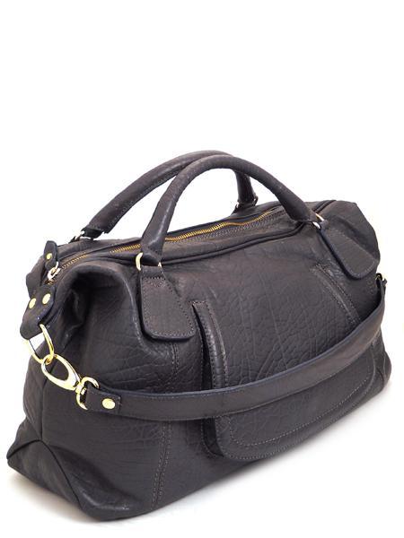Кожаная сумка цвета мокрого асфальта итальянской марки ALEANTO 5863piombo