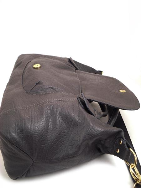 Кожаная сумка цвета мокрого асфальта итальянской марки ALEANTO-3261