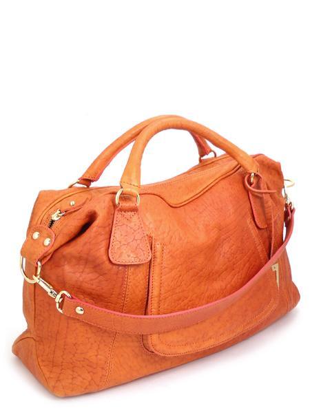 Кожаная сумка оранжевого цвета итальянской марки ALEANTO 5863zucca-0