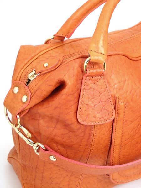 Кожаная сумка оранжевого цвета итальянской марки ALEANTO 5863zucca-3264