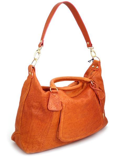 Кожаная сумка оранжевого цвета итальянской марки ALEANTO 5863zucca-3265