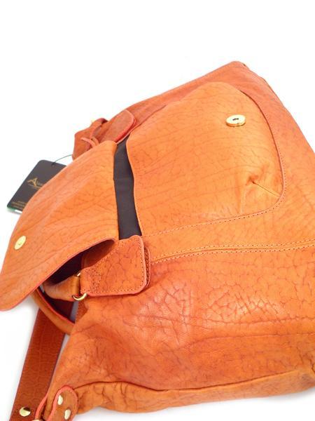 Кожаная сумка оранжевого цвета итальянской марки ALEANTO 5863zucca-3266