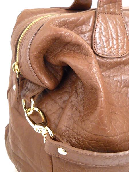 Вместительная кожаная сумка цвета гаванской сигары ALEANTO -3286