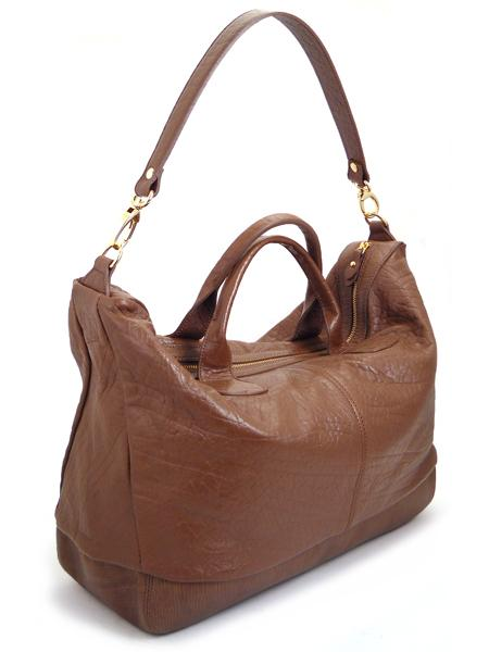 Вместительная кожаная сумка цвета гаванской сигары ALEANTO -3288