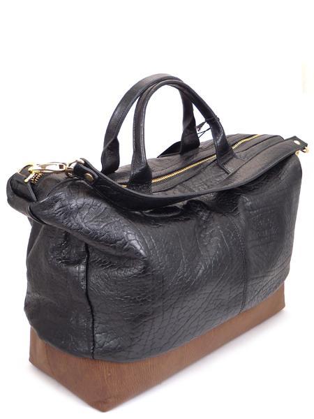 Кожаная двухцветная сумка в стиле унисекс итальянской марки ALEANTO 5877nero-sigaro-21332