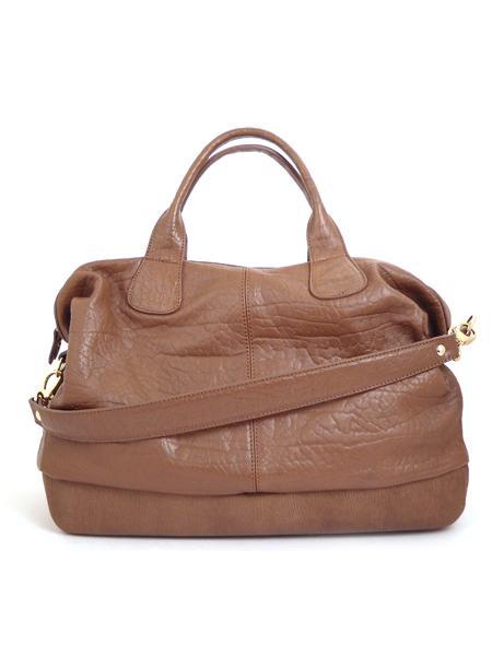 Вместительная кожаная сумка цвета гаванской сигары ALEANTO -3285
