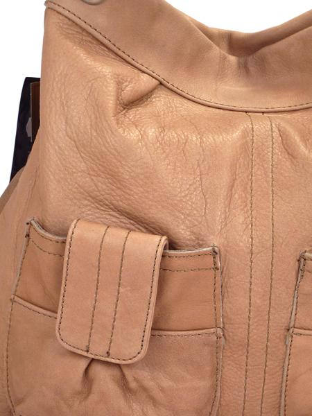 Кожаная сумка цвета арахиса BAGIA -1785
