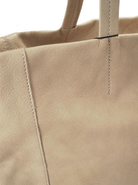 Кожаная сумка для шопинга серо-коричневого цвета на молнии BAGIA 907 taupe-4628