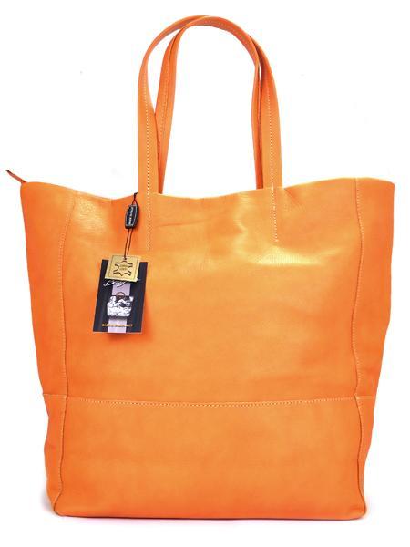 оранжевый шопер Bagia
