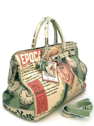 Кожаная сумка с рисунком от итальянского дизайнера MASSIMO TRULLI-5021