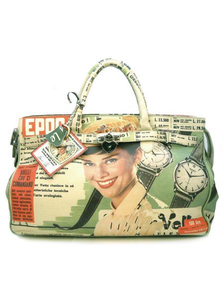 Кожаная сумка с рисунком от итальянского дизайнера MASSIMO TRULLI-0