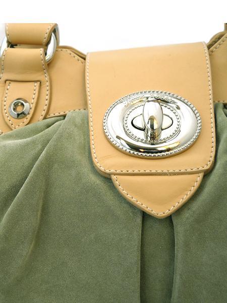 Сумка светло-зеленой замши итальянской марки N.J.BAKER-2887