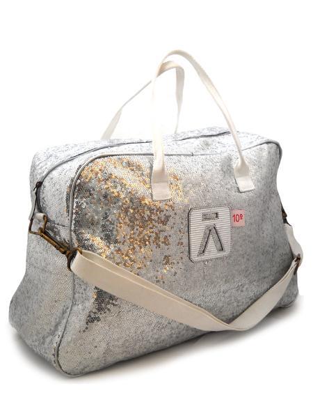 Большая сумка из серебристых пайеток испанской марки ALIMA