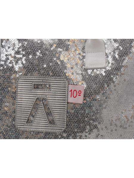 Большая сумка из серебристых пайеток испанской марки ALIMA-5064