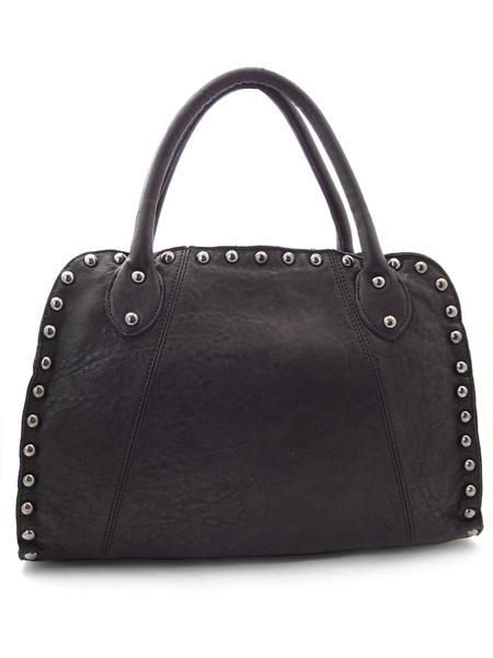 Черная дамская сумка с клепками итальянской марки INNUE-21906