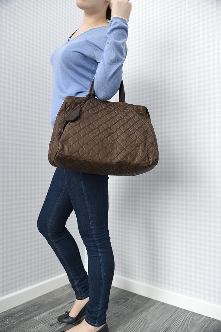 Темно-коричневая дамская кожаная сумка итальянской марки GIANNI CHIARINI -29283