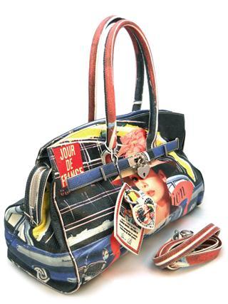 Дизайнерская сумка с принтом Одри Хепберн итальянской марки MASSIMO TRULLI-0