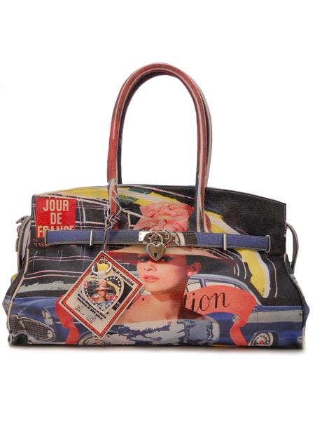 Дизайнерская сумка с принтом Одри Хепберн итальянской марки MASSIMO TRULLI-5031