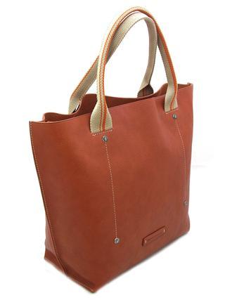 Кожаная женская сумка рыжего цвета итальянской марки TOSCA NELLA-0