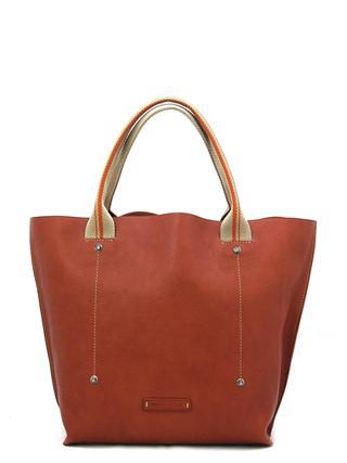 Кожаная женская сумка рыжего цвета итальянской марки TOSCA NELLA-1496