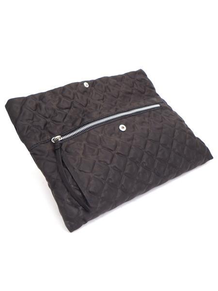 Черный клатч из тиснененой мягкой кожи GIANNI CHIARINI -3021