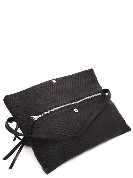 Черный кожаный клатч-книжка GIANNI CHIARINI 5235 nero mat-3023