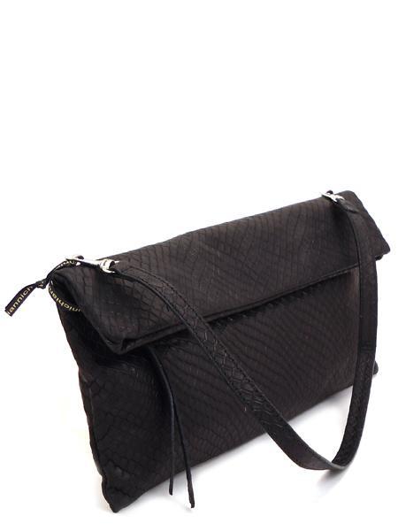 Черный кожаный клатч-книжка GIANNI CHIARINI 5235 nero mat-0