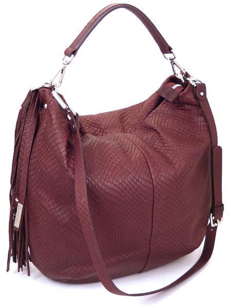 Бордовая сумка из кожи с фактурой под рептилию GIANNI CHIARINI 867 bordo-21662