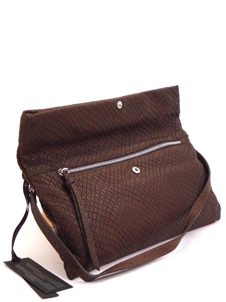 Темно-коричневый кожаный клатч GIANNI CHIARINI -3028