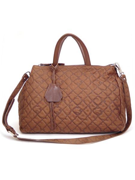 Коричневая дамская кожаная сумка итальянской марки GIANNI CHIARINI -5113
