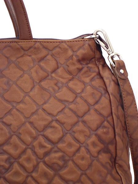Коричневая дамская кожаная сумка итальянской марки GIANNI CHIARINI -5114