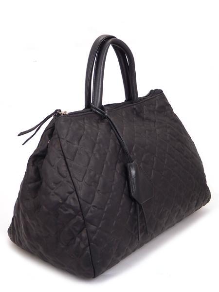 Черная дамская кожаная сумка итальянской марки GIANNI CHIARINI BS1415 nero-5117