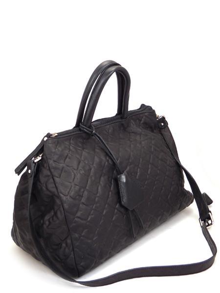 Черная дамская кожаная сумка итальянской марки GIANNI CHIARINI BS1415 nero-21849