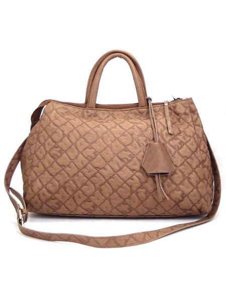 Дамская кожаная сумка цвета какао итальянской марки GIANNI CHIARINI -5121