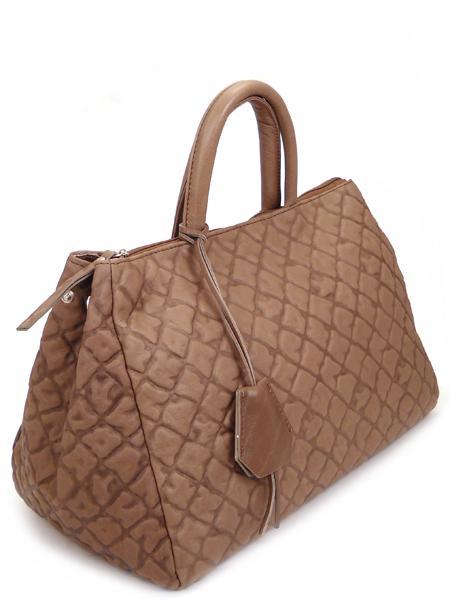 Дамская кожаная сумка цвета какао итальянской марки GIANNI CHIARINI -5123