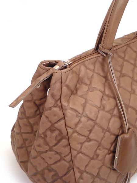 Дамская кожаная сумка цвета какао итальянской марки GIANNI CHIARINI -5120