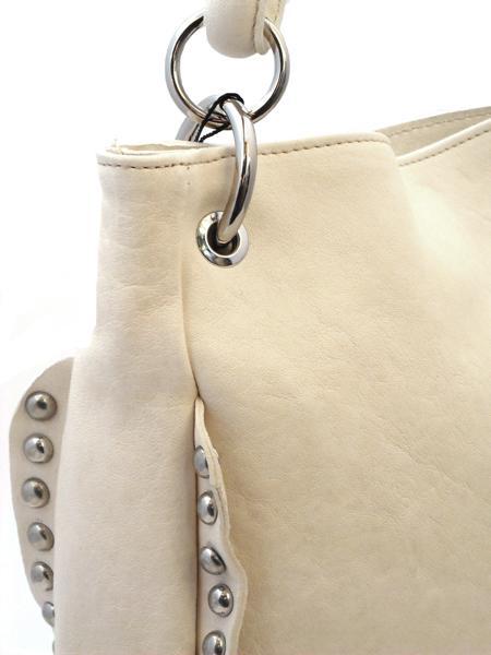 Кожаная летняя сумка цвета топленого молока итальянской марки INNUE-5209