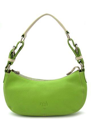 Маленькая кожаная сумочка цвета зеленого яблока итальянской марки NOA -2024