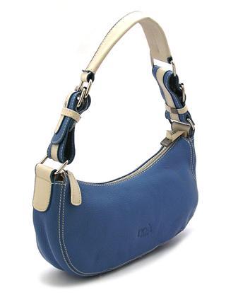 Синяя кожаная сумочка Италия