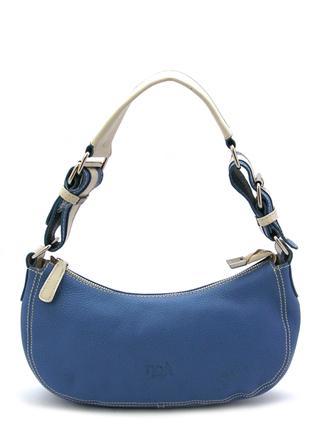 Синяя кожаная сумочка итальянской марки NOA-2016