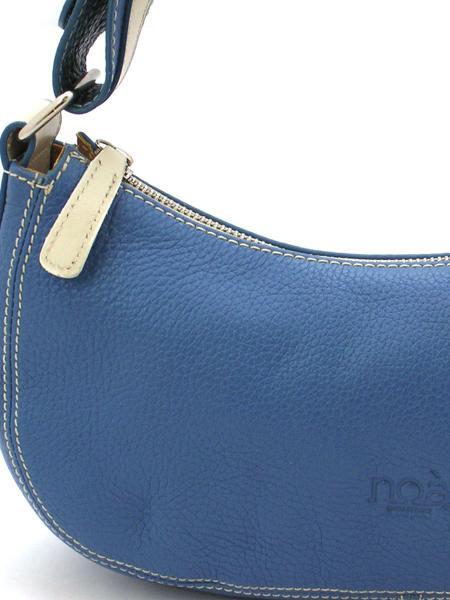 Синяя кожаная сумочка итальянской марки NOA-2017