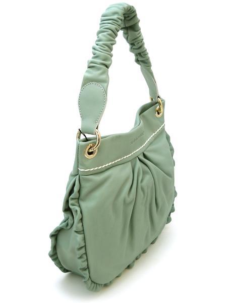 Маленькая сумочка цвета мяты итальянской марки PLINIO VISONA'-20568