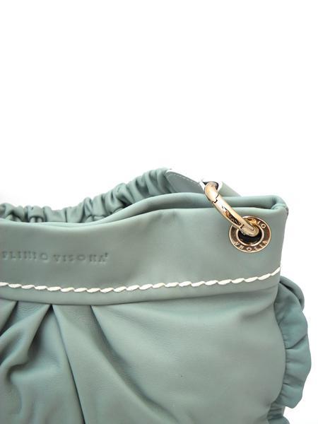 Маленькая сумочка цвета мяты итальянской марки PLINIO VISONA'-585