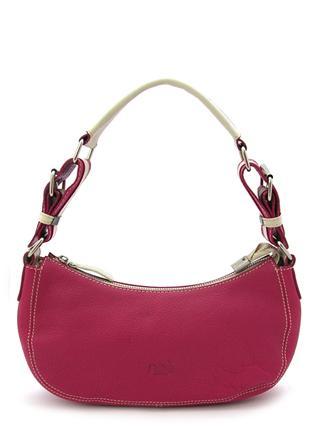 Маленькая кожаная сумочка малинового цвета итальянской марки NOA -2027