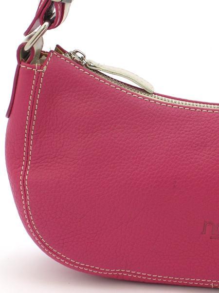Маленькая кожаная сумочка малинового цвета итальянской марки NOA -20959