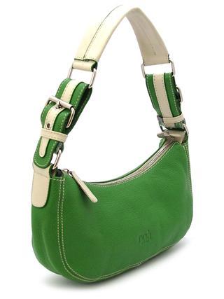 Маленькая зеленая кожаная сумочка италия