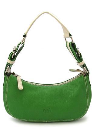 Маленькая зеленая кожаная сумочка итальянской марки NOA-2021