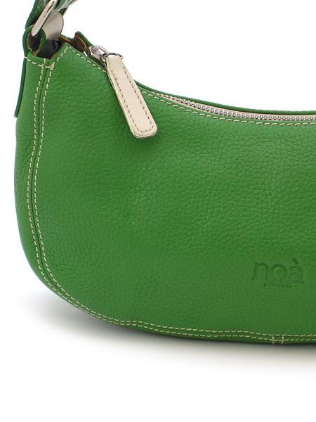 Маленькая зеленая кожаная сумочка итальянской марки NOA-2020